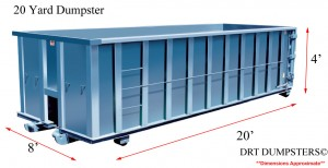dumpster rental in toledo - 20 yards containers